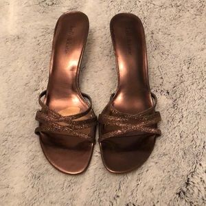 Jelly & Katie bronze kitten heels